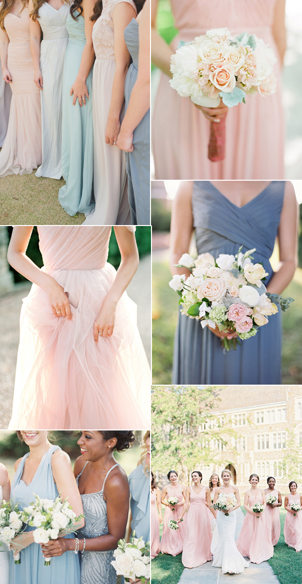Shades Of Pink And Blue Pantone S 2016 Colors Bridesmaid Dresses