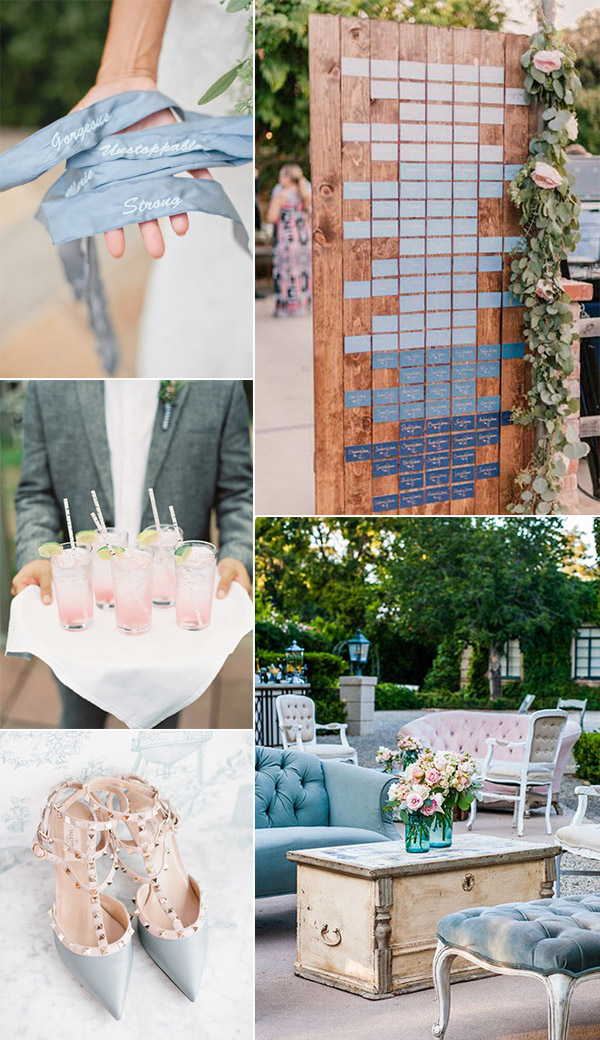 shades of pink and blue wedding ideas 2016 trends