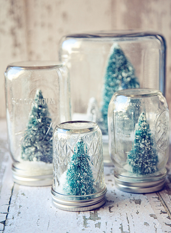 snow glober mason jar ideas of winter wedding gifts