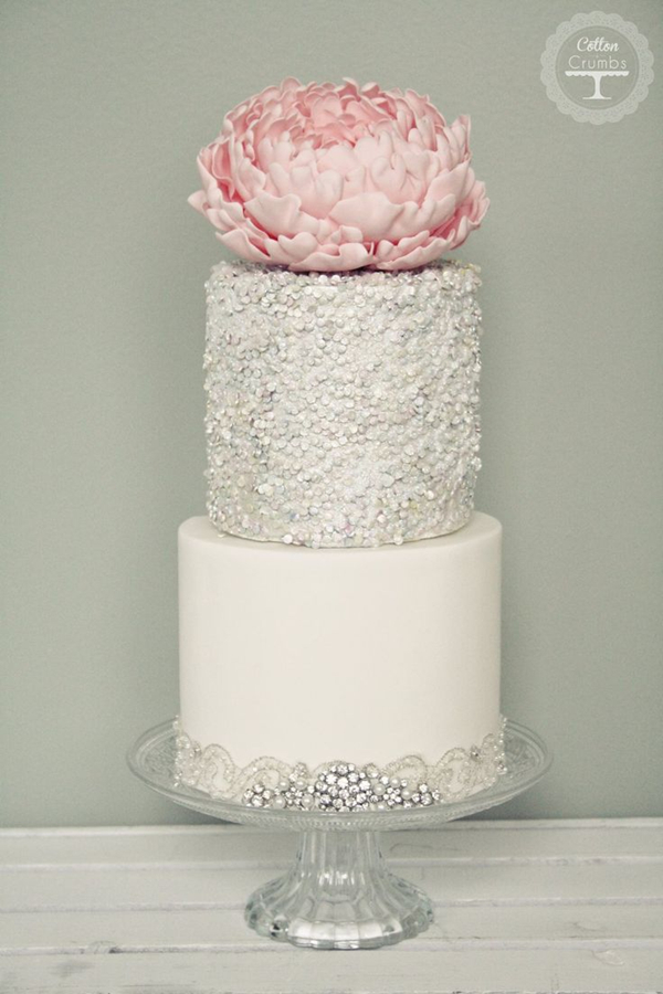 sparkle silver wedding cakes with exceptional details