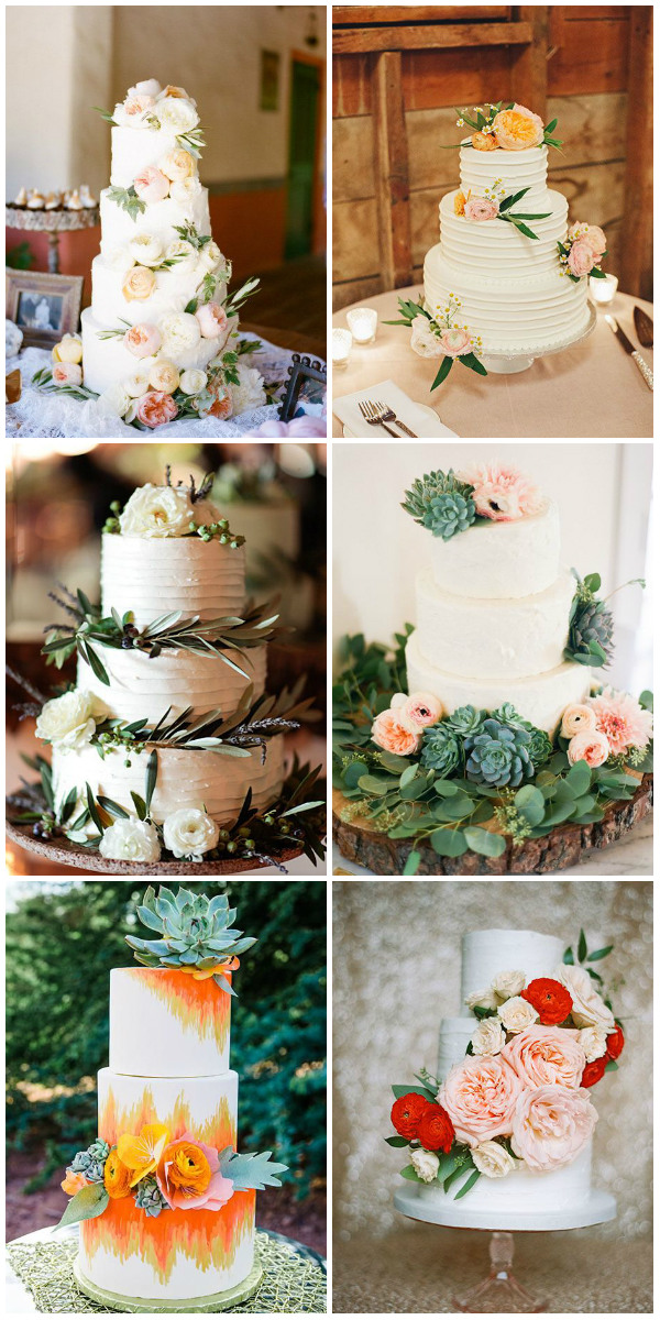 spring wedding cake ideas with ranunculus