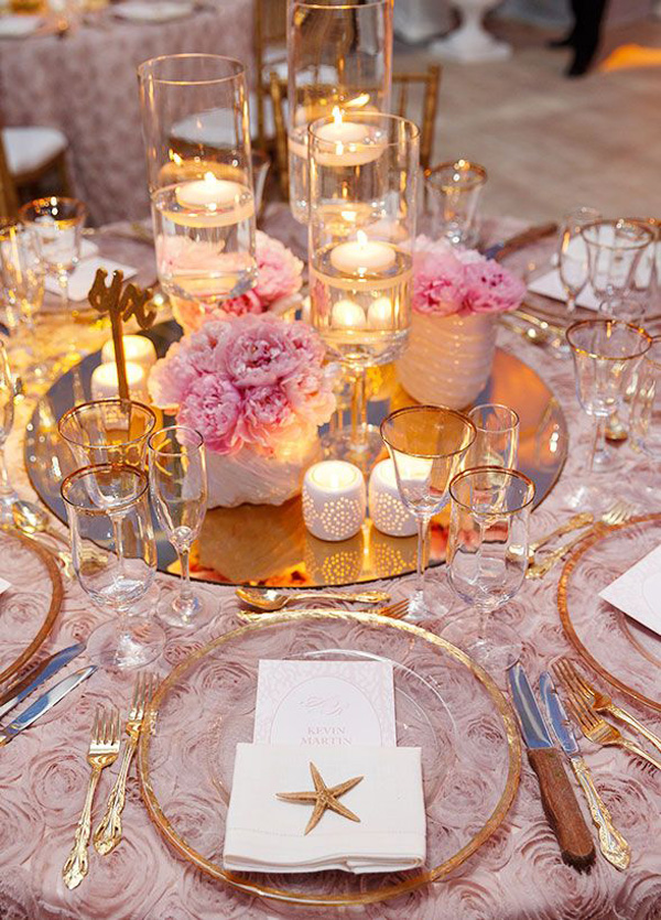 Stunning Beach Wedding Centerpieces Ideas