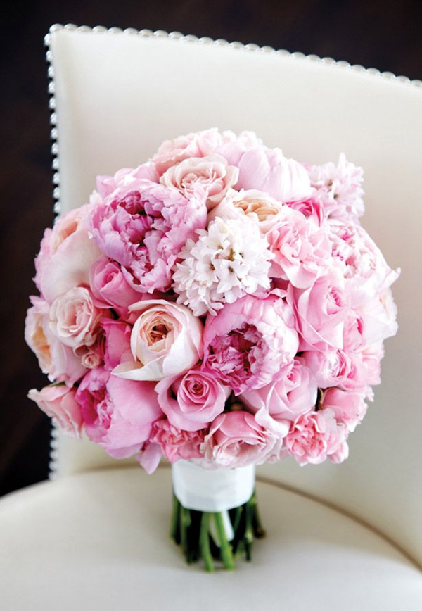 29 eye catching wedding bouquets ideas for 2016 spring stunning pink peonies wedding bouquets for spring wedding junglespirit Gallery