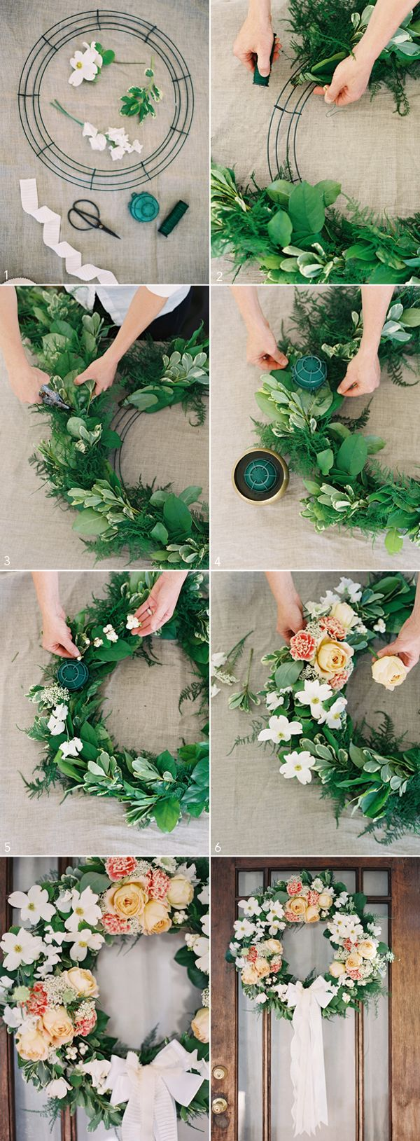 wonderful spring wedding decoration ideas DIY wedding wreath