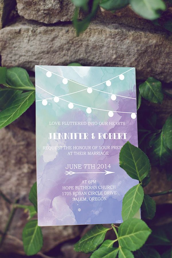 affordable-shades-of-green-and-purple-watercolor-wedding-invitations-EWIb370