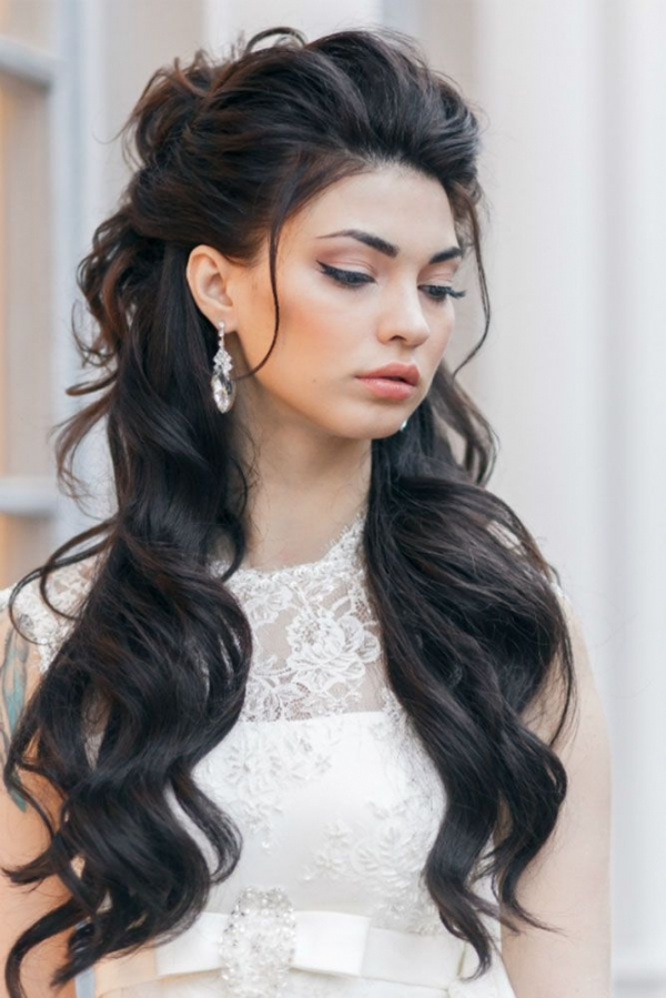 20 Awesome Half Up Half Down Wedding Hairstyle Ideas ...