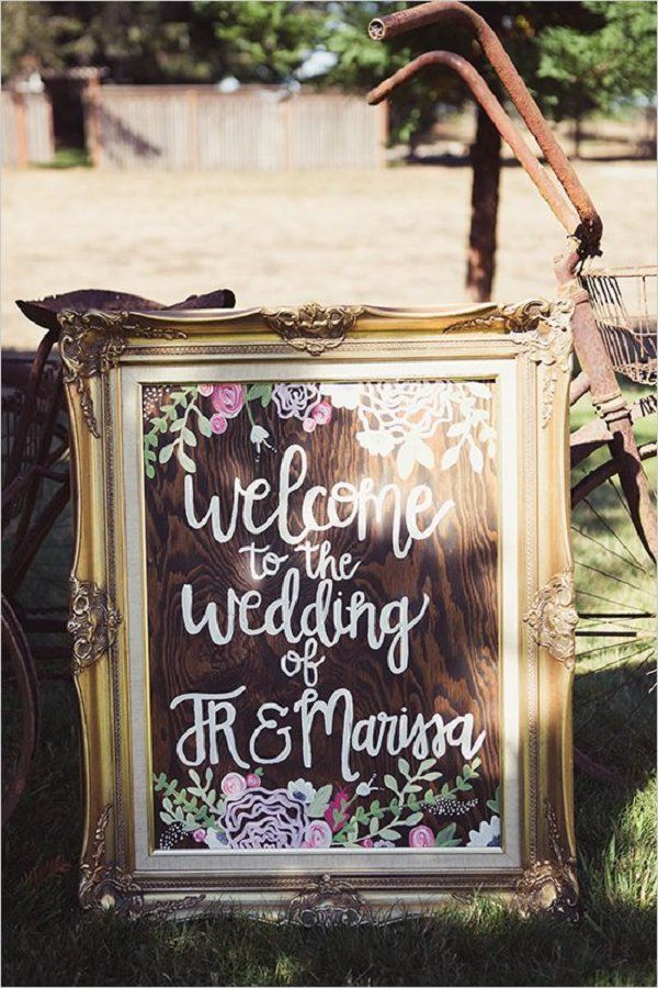 chic vintage wedding sign ideas