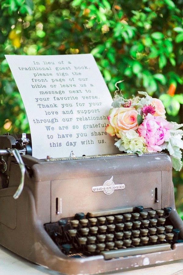 creative vintage wedding guest book ideas