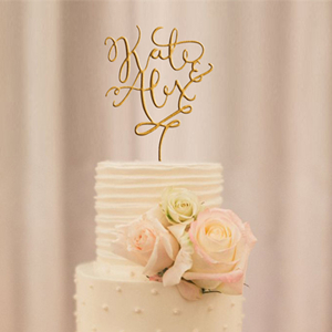 elegant glittery custome wedding cake toppers