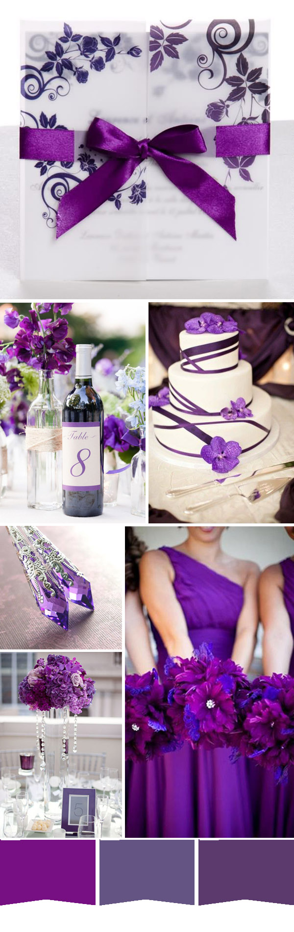 Gorgeous Bright Purple Spring Wedding Color Ideas And Invitations