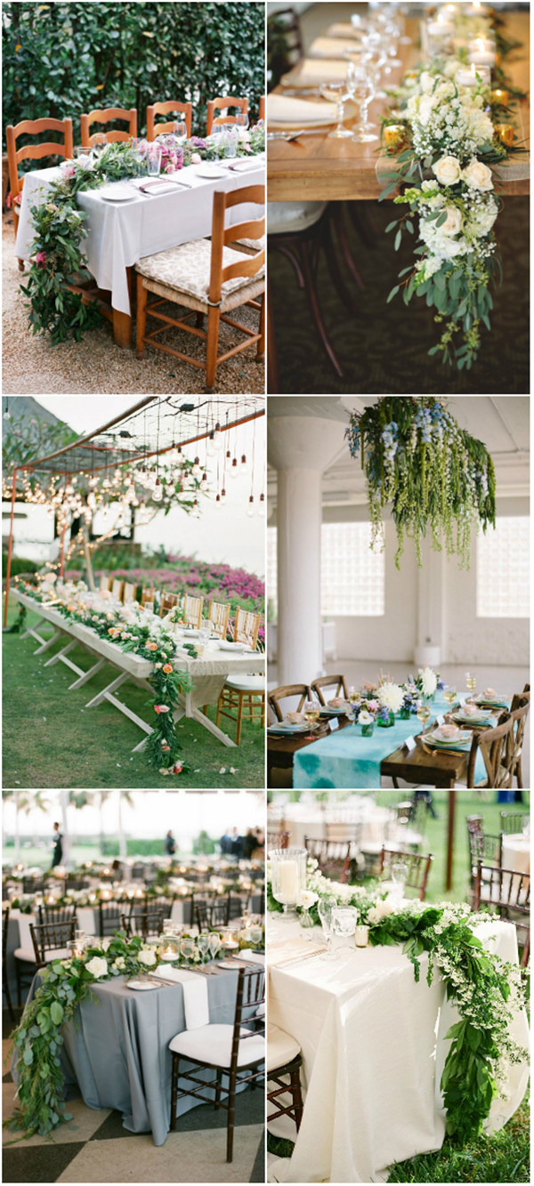 incredible cascading flowers wedding centerpieces ideas