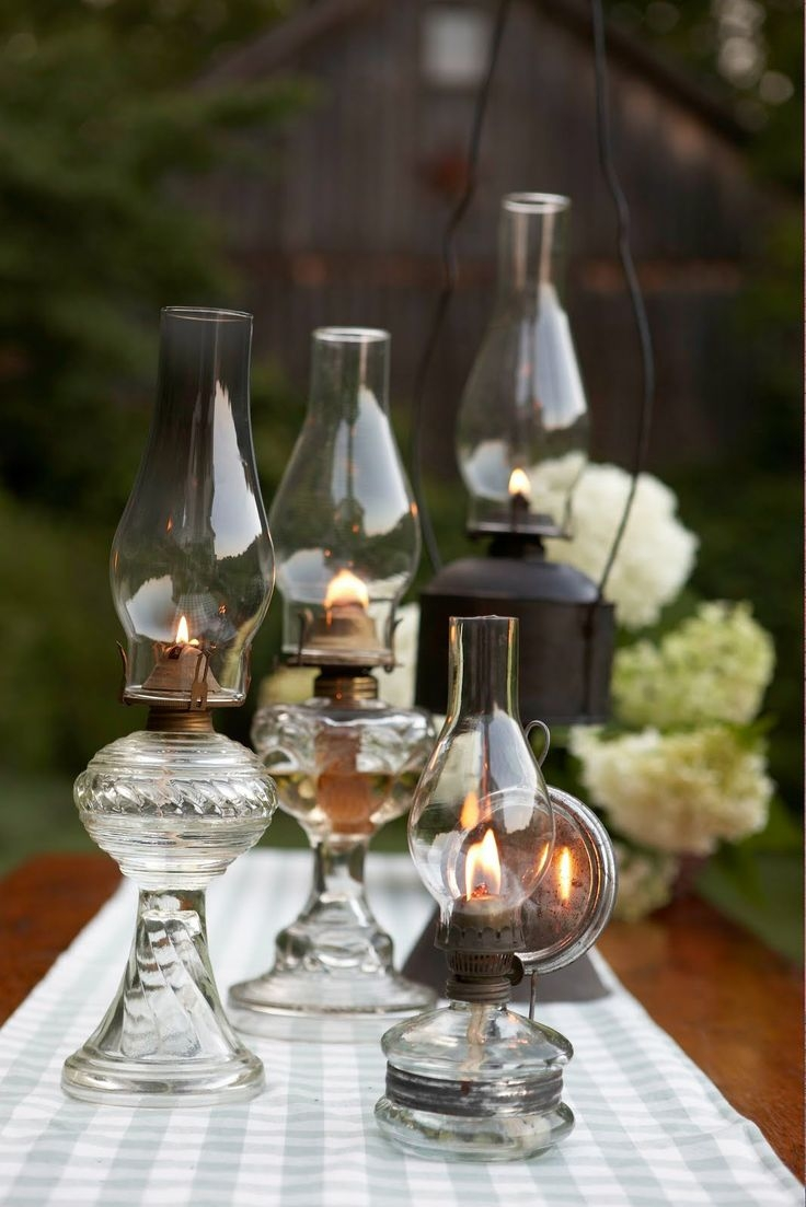 oil lamp vintage wedding decoration ideas