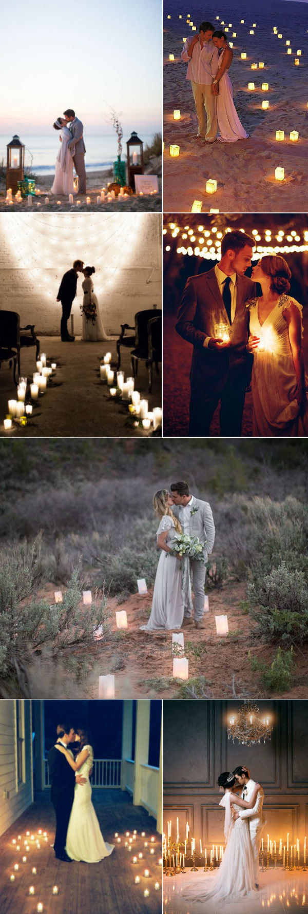 romantic wedding photography ideas by candlelight