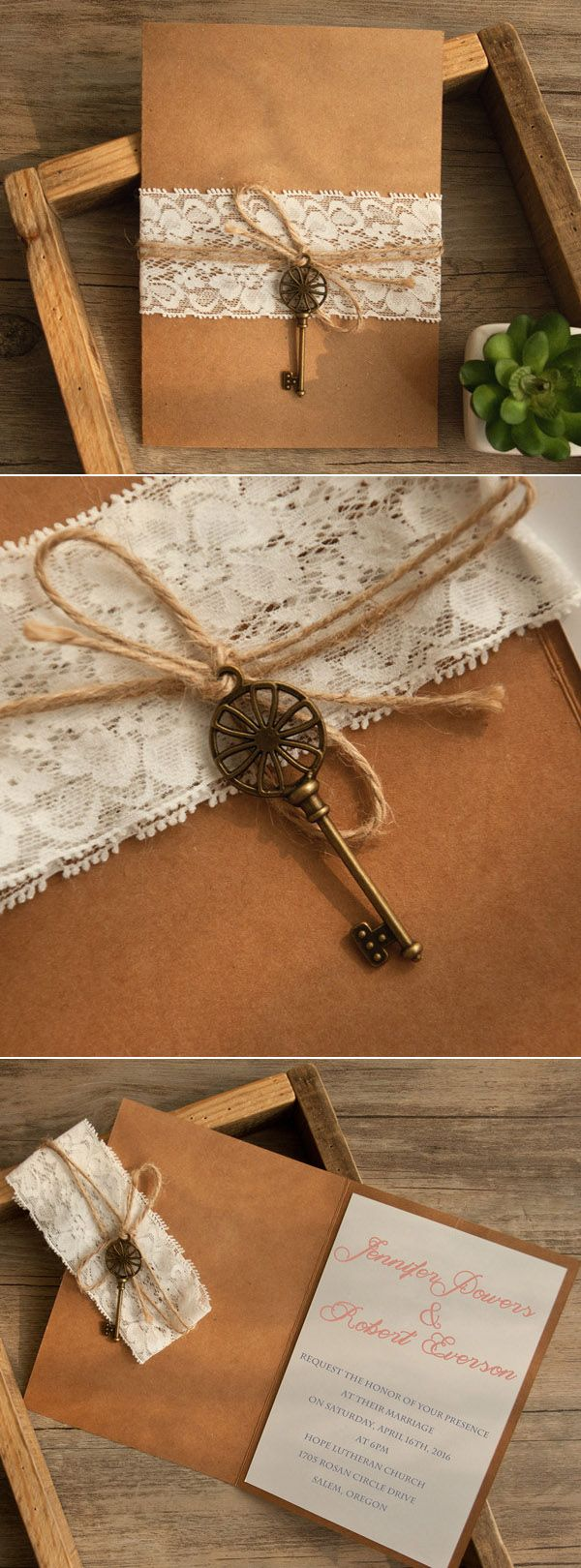 rustic-lace-folded-wedding-invitations-with-vintage-keys-EWLS057