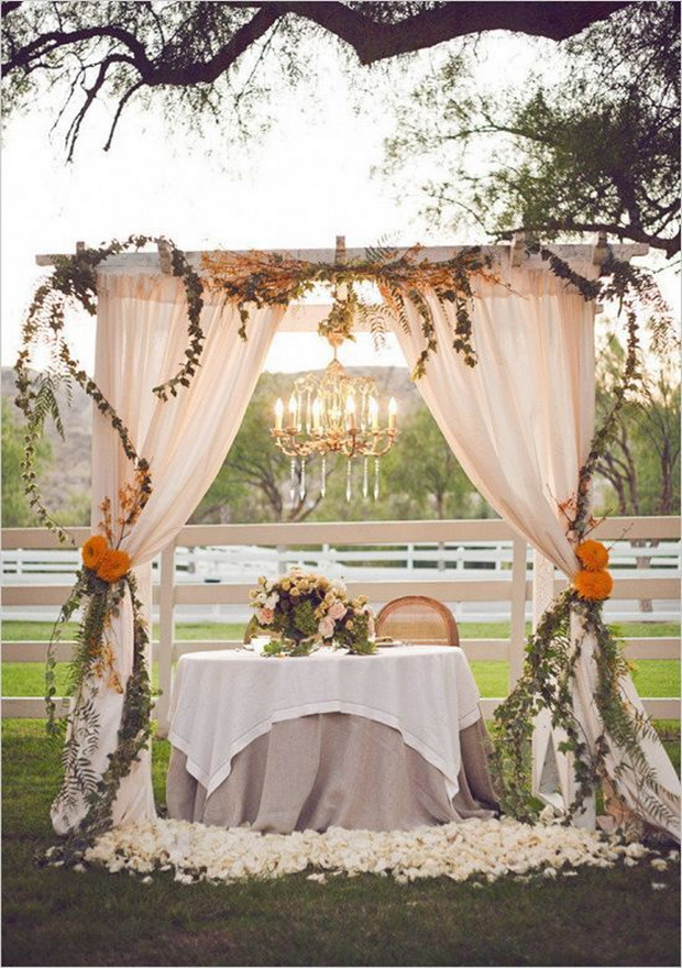 rustic vintage wedding arch decoration ideas