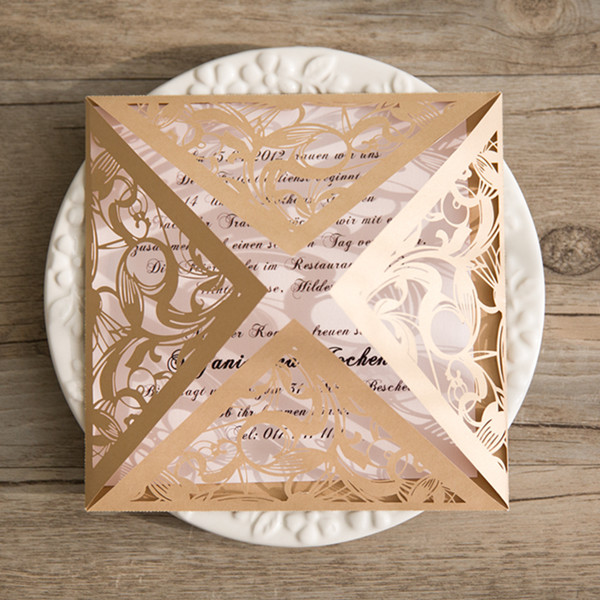 blush and gold laser cut swirl wedding invitations EWWS082