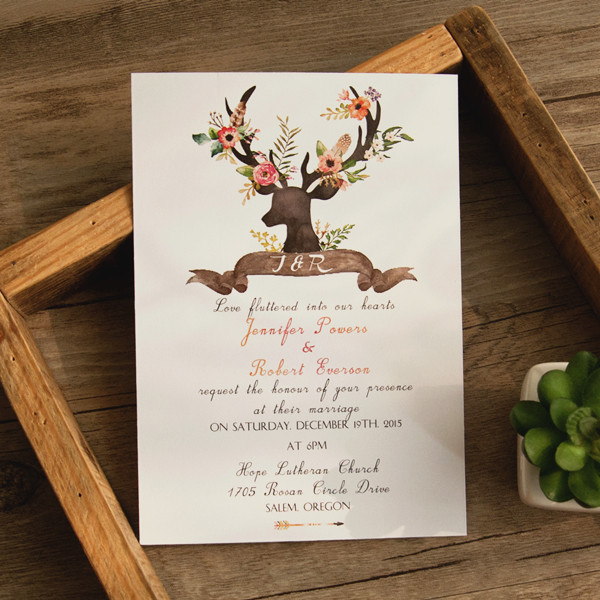 bohemian-rustic-deer-flower-wedding-invitations-EWI414