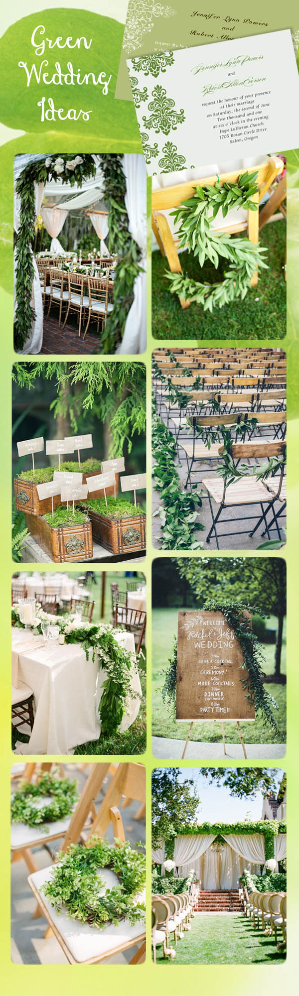 greenery wedding theme trends and greenery wedding invitations