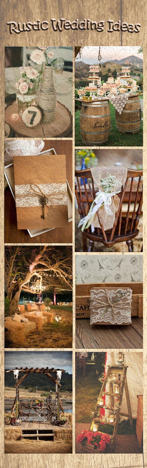 popular rustic wedding ideas and EWI rustic wedding invitations
