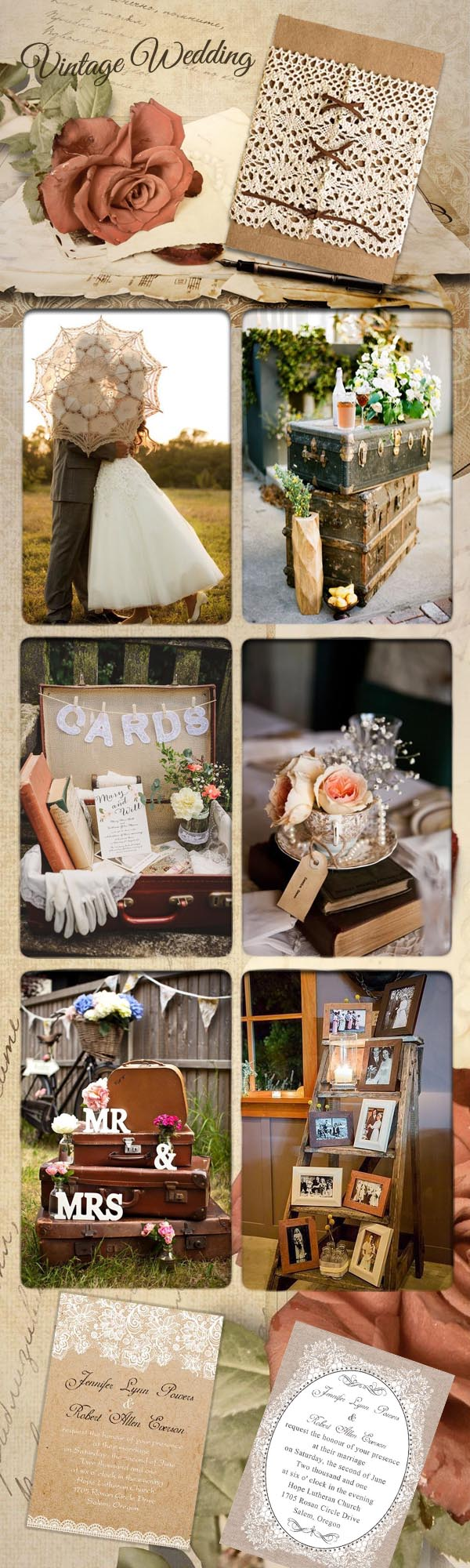 vintage wedding ideas and vintage wedding invitations