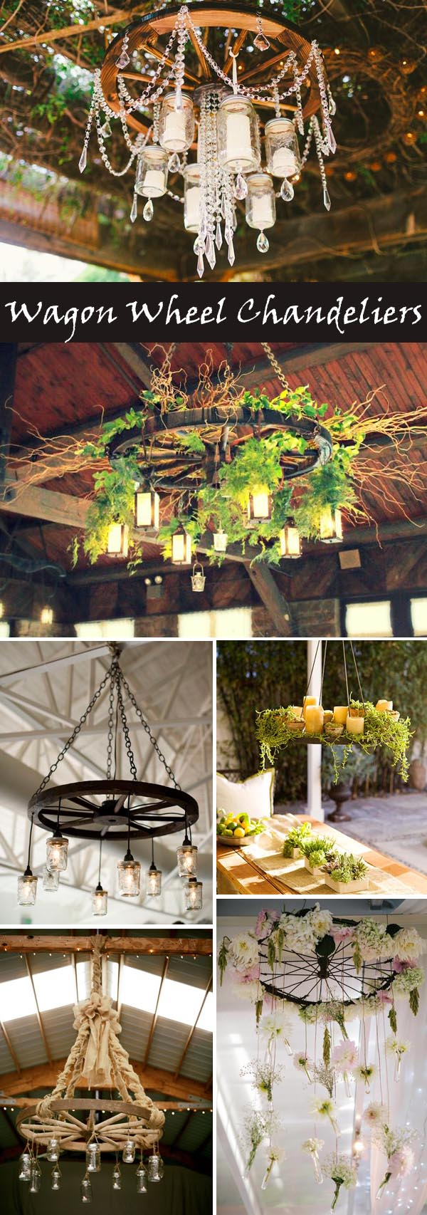 Creative Rustic Wagon Wheel Wedding Decoration Ideas