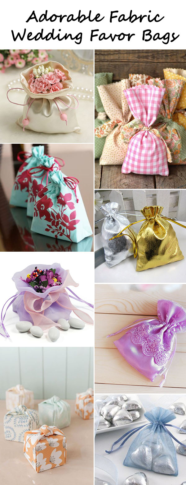 Adorable Fabric Wedding Favor Bag Ideas