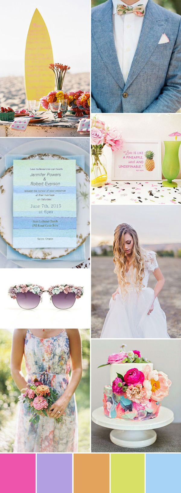 beach themed summer wedding ideas