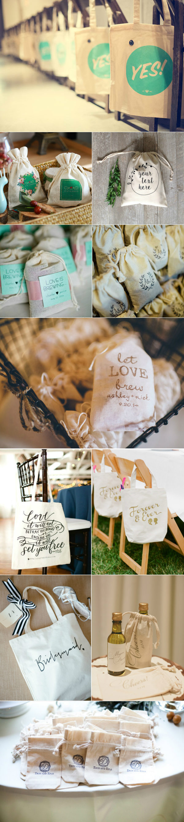 canvas wedding favor bags you'll lovely