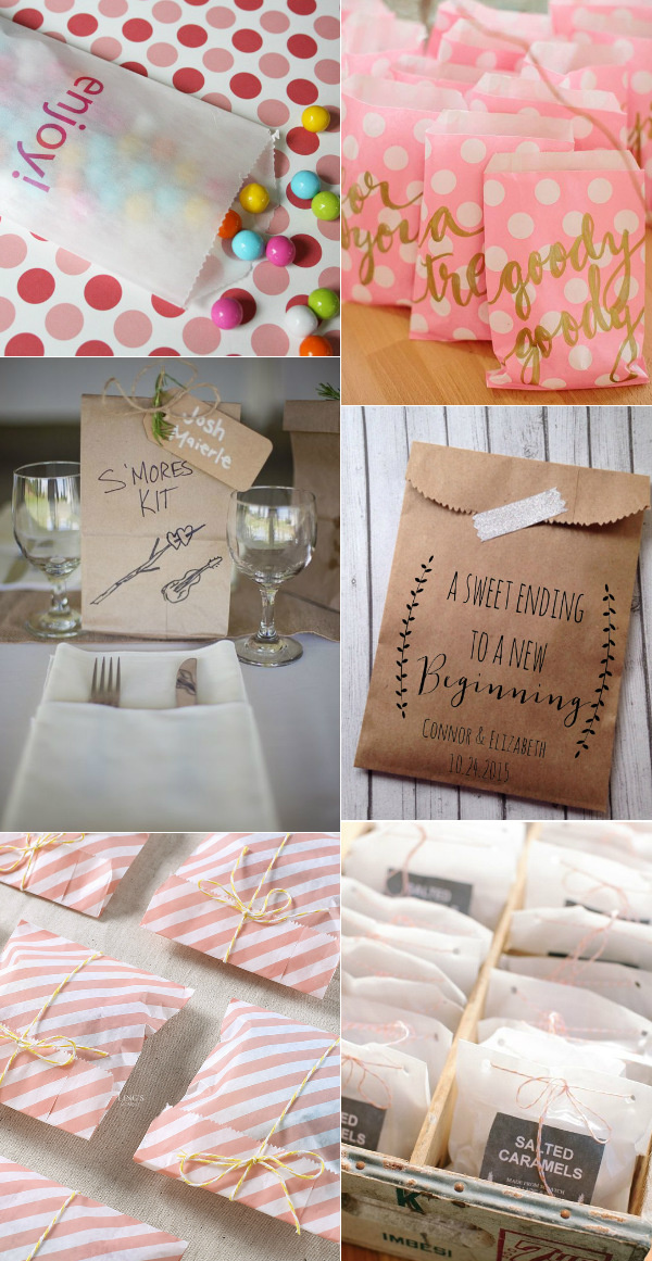 creative kraft paper bags for wedding favors