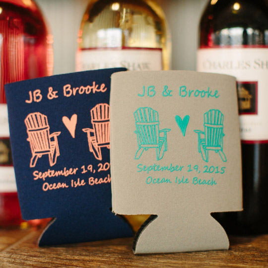 Customized Wedding Koozies Favor Ideas For Guests