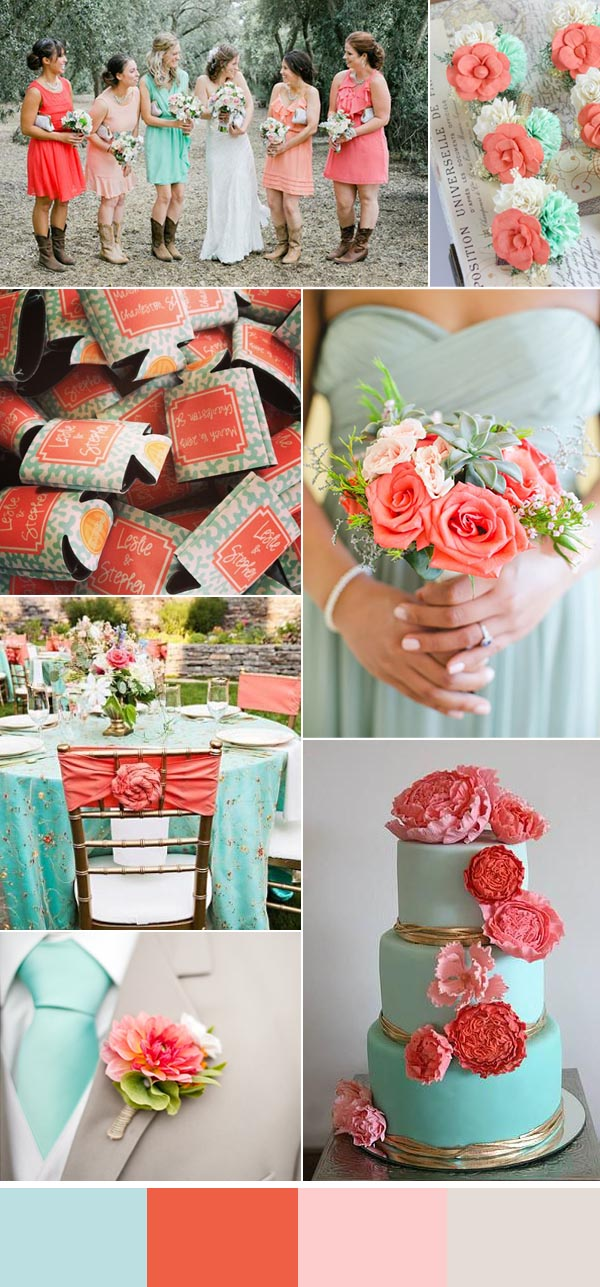 Cool Summer Wedding Ideas With Personalized Koozie Favors