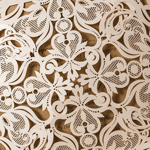 pearl white laser cut pocket detail