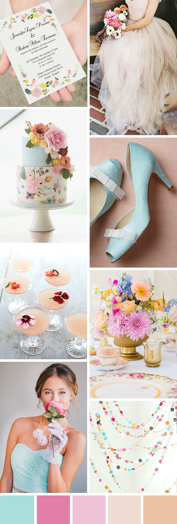 seven wonderful wedding color ideas in shades of pink