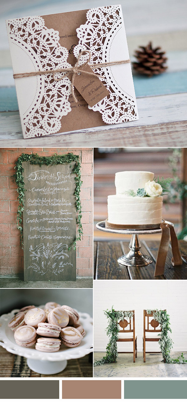 rustic neutral wedding colors with a touch of elegance