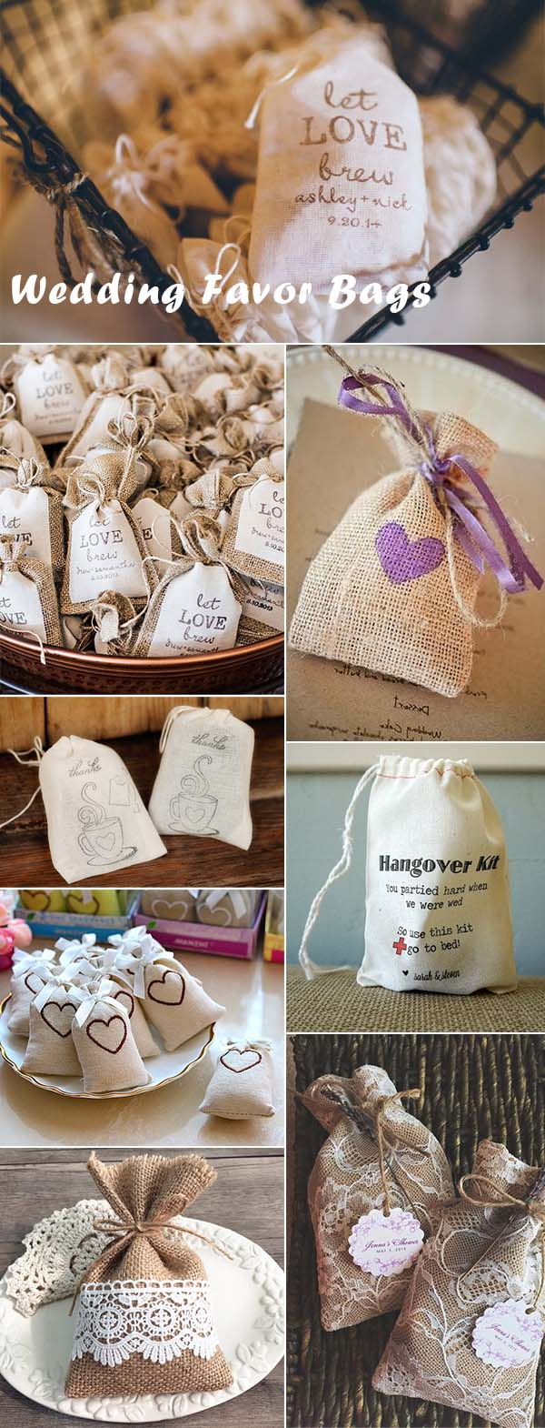 Rustic Wedding Favor Bags Ideas