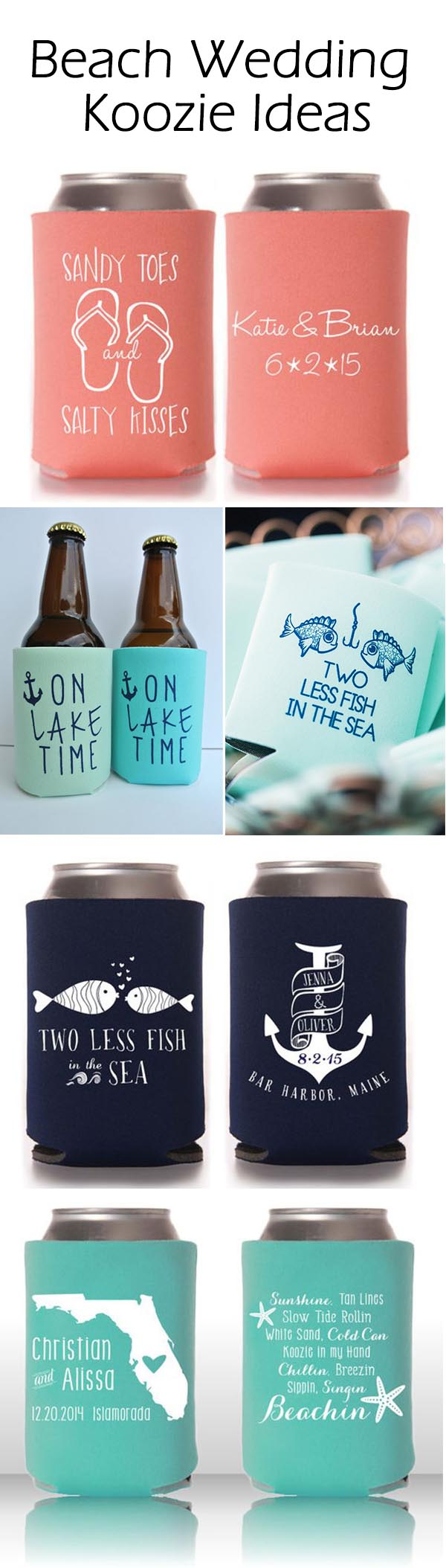 Totally Wedding Koozies.Cool Summer Wedding Ideas With Personalized Koozie Favors