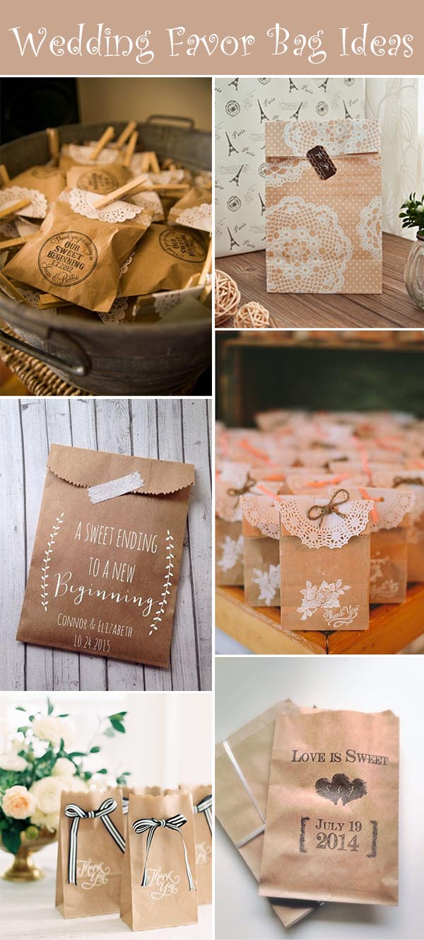 50 Awesome Wedding Favor Bag Ideas To Make Your Wedding Gifts More