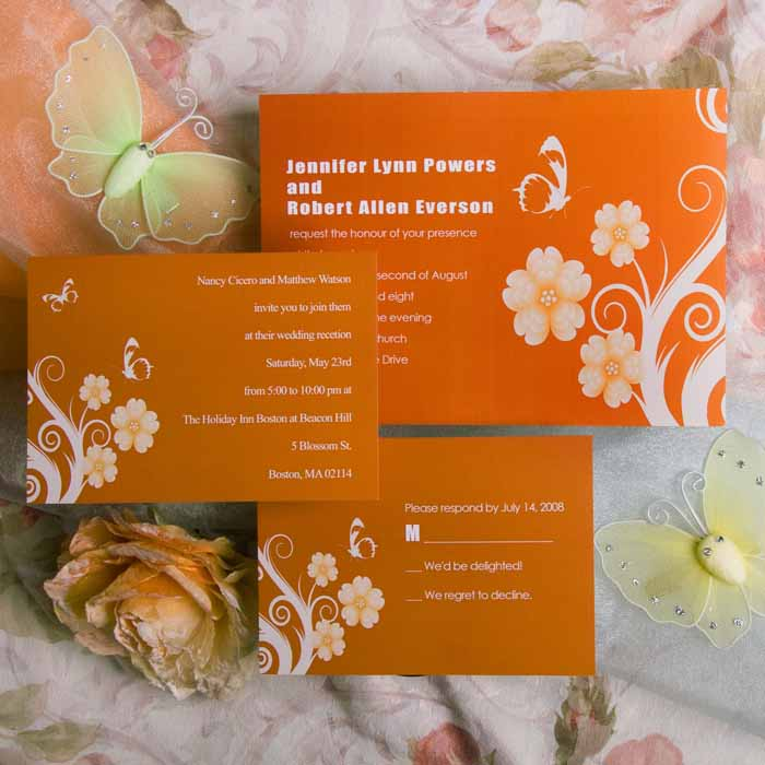 Afforable-printable-orange-butterfly-and-flower-wedding-invitations-EWI018