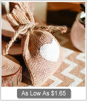 country rustic burlap wedding favor bags