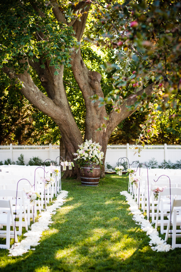 Country Rustic Wedding Altar For Outdoor Weddings