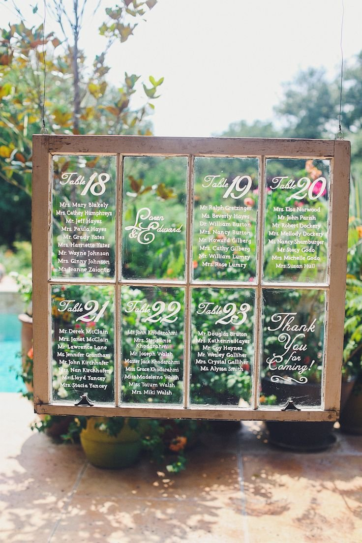 Creative Ideas For Wedding Seating Chart