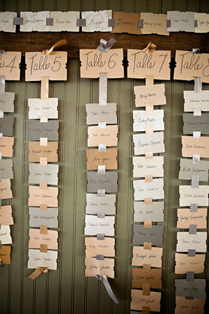 creative wedding escort cards and table seating chart ideas