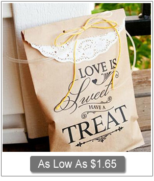 custom craft paper gift bags for wedding favor ideas
