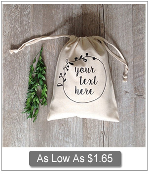 custom natural cotton rustic favor bags EWFB114