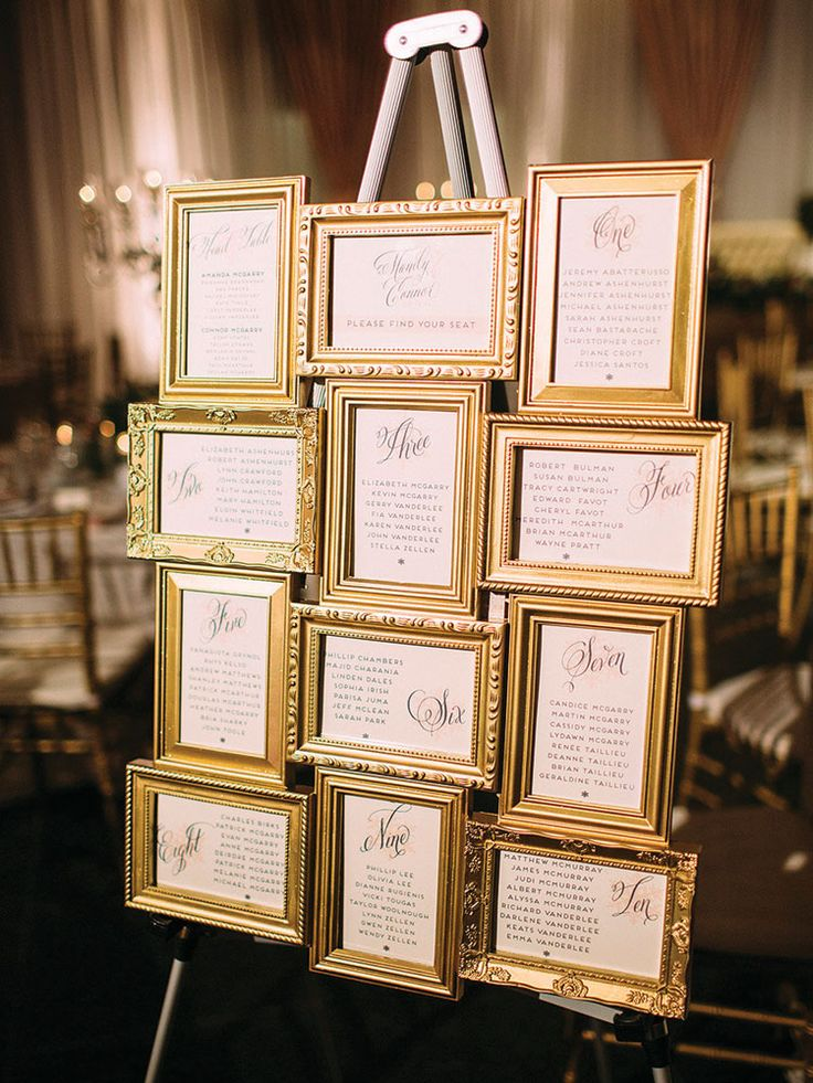 Most Popular Seating Chart Ideas For Your Wedding Day