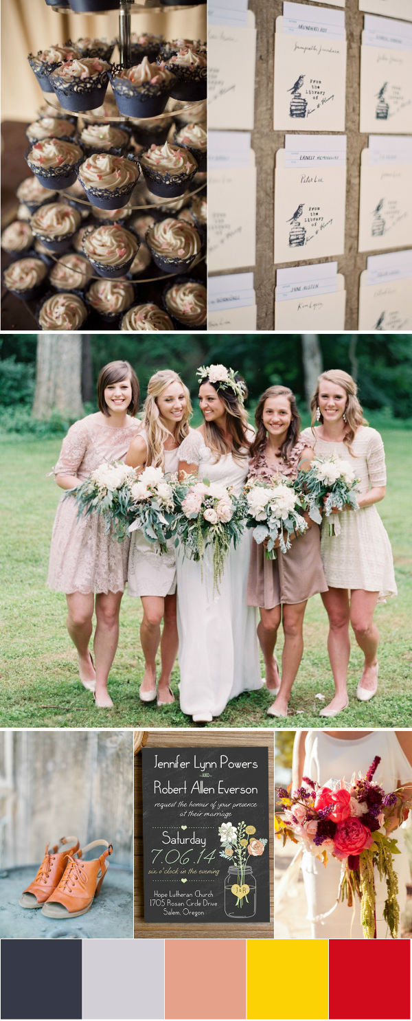 fall boho wedding color palette ideas
