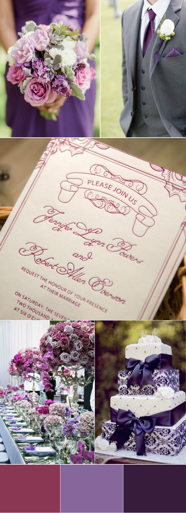 glamorous purple wedding color inspiration