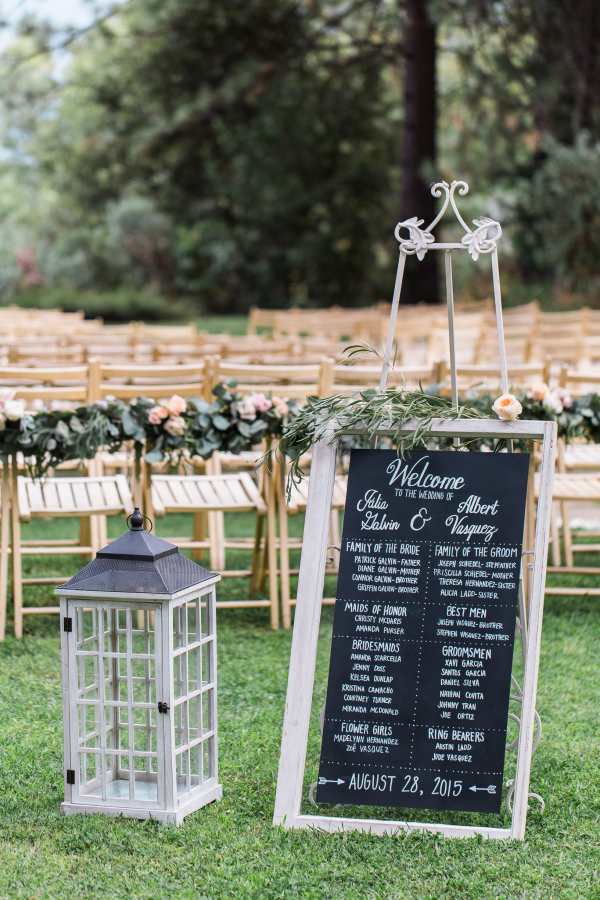rustic chic wedding decoration chalkboard welcome sign