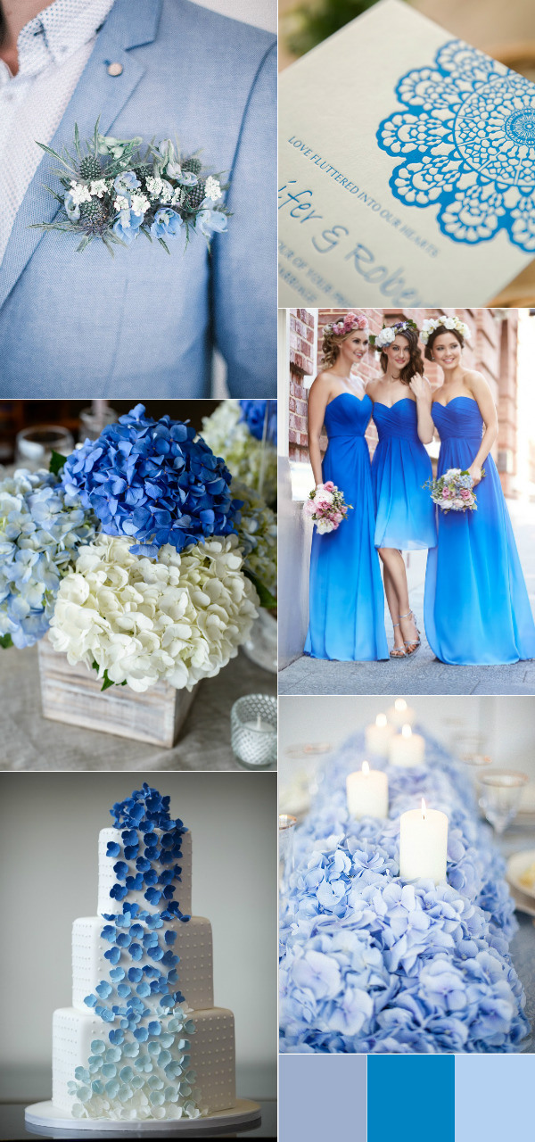 shabby chic blue wedding color palette