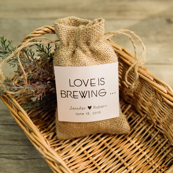 cheap rustic jute hessian favor bags